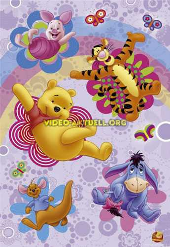 winnie pooh und freunde flower power kinder poster h236 ebay. Black Bedroom Furniture Sets. Home Design Ideas